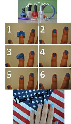 4th of July Nail tutorial