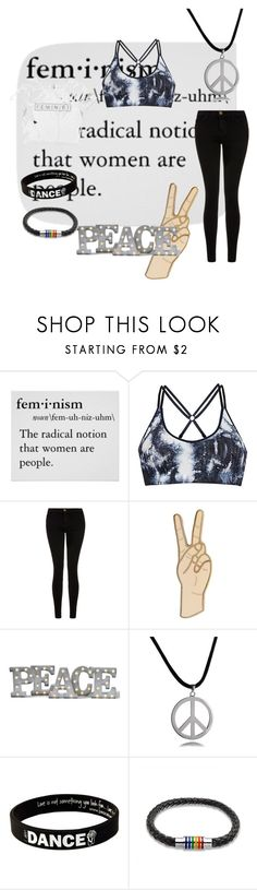 """Feminism"" by talibearblogs ❤ liked on Polyvore featuring Climawear, Current/Elliott, Lucky Brand, Grandin Road, Bling Jewelry and Peace Love World"
