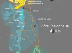 Côte Chalonnaise Wine Map Burgundy by Wine Folly