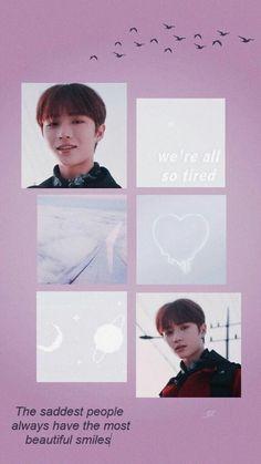 Bear Wallpaper, Tumblr Wallpaper, Iphone Wallpaper, Pastel Pink Wallpaper, Quotes Lockscreen, Kpop Posters, Frame Template, Korean Artist, Beautiful Smile