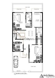 Dream House Plans, Modern House Plans, Floor Layout, Eid Mubrak, Floor Plans, Yard, House Design, How To Plan, Free
