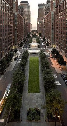 North End Avenue in Battery Park City, NY