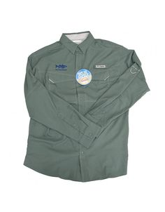 Lightweight ripstop fabric with built-in sun protection and strategic venting makes this shirt ideal for long days in the sun, while clean lines and subdued detailing deliver versatile wearability. Now embroidered with our On The Water Striper logo.  $55.00