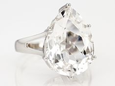 """Pre-Owned White Herkimer """"Diamond"""" Quartz Rhodium Over Silver Ring Diamond Quartz, Herkimer Diamond, Quartz Crystal, Gems Jewelry, Crystal Jewelry, Broken Chain, Sterling Silver Rings, Fashion Jewelry, Crystals"""