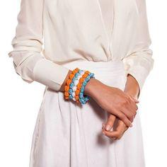 crochet bobble bracelet helen rodel