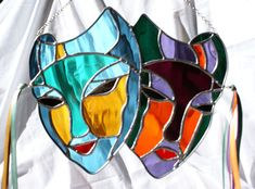 stained glass carnival masks