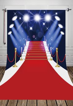 14.96$  Watch now - HUAYI Red carpet Avenue of Stars Photography Backdrop birthday party prop D-4123  #magazineonlinewebsite