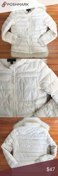 JCREW Lightweight Puffer Jacket White Cream Sz S Beautiful, chic jacket from JCrew in gently used condition.  Guaranteed authentic - purchased myself from a JCrew retail store (NOT factory). J. Crew Jackets & Coats Utility Jackets