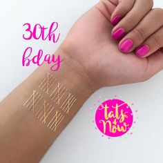 Its your 30th birthday and you are ready to party! Have fun with our gold temporary tattoo party favors. Always a crowd pleaser and sure to get you that sparkle you want on your special day. ------------------------------------  Please read our entire listing before purchasing to answer most common questions and prevent any confusion.  -------------------------------------  We have over 23 designs for you to choose from so if these don't tickle your fancy go check out our shop to see more…