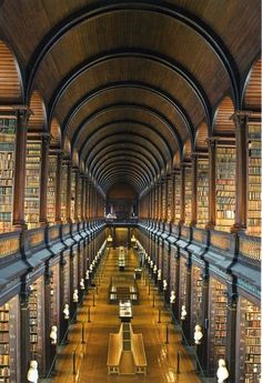 Long Room at the Old Library, Trinity College, Dublin.