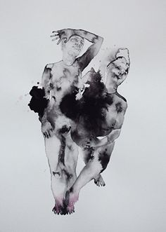 """Drawing, """"Lookout"""" Graphite, ink and gouache on paper"""