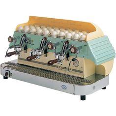 Elektra Barlume Classic Series Commercial Espresso Machine - semi-automatic, 3G, yellow / green