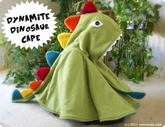 (9) Name: 'Sewing : Dynamite Dinosaur Cape Pattern