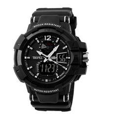 Tropez Expedition Analog Digital Sports Watch  - Black
