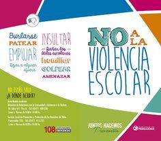 Decile NO a la #ViolenciaEscolar. Decile NO al #Bullying. No estás sol@!
