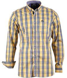 Modernes #Freizeithemd von CLAUDIO #CAMPIONE mit sportlichem Button Down Kragen.