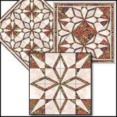 472 Sand Castles 12 inch Paper Piecing Quilt Design, Sova Enterprises