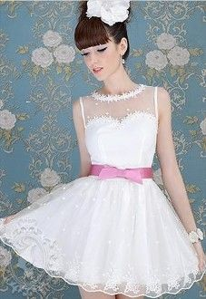 Shop Lovely Pink Bow Knot Sheer Mesh White Princess Dress on sale at Tidestore with trendy design and good price. Come and find more fashion Short Day Dresses here. Dressy Dresses, Day Dresses, Dresses For Sale, Nice Dresses, Short Dresses, Flower Girl Dresses, Prom Dresses, Wedding Dresses, Kawaii Fashion