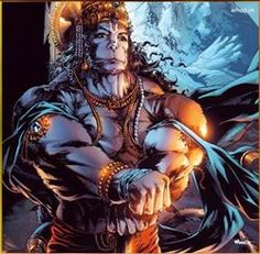 Artise Image Of Morden Hanuman Cartoon Images With Body Builder Style