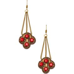 Suzanna Dai Marrakech Chandelier Drop Earrings ($59) ❤ liked on Polyvore featuring jewelry, earrings, gold, long earrings, long drop earrings, long chandelier earrings, gold tone earrings and beading jewelry