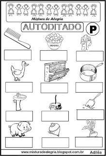 Autoditado para alfabetização com a letra P