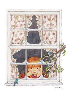 ❤️Bluebird Cottage ~ Artist Sarah Kay from Lil Bluebird