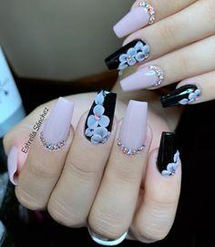 French Nail Designs, Simple Nail Art Designs, Acrylic Nail Designs, Fancy Nail Art, Fancy Nails, Pretty Nails, Fabulous Nails, Perfect Nails, Dimond Nails