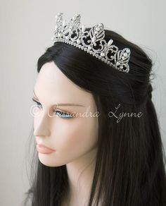 146cf00a3229 Wedding Tiara of Marquise Crystals Silver. A stunning