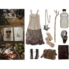 Cottage Witch by maggiehemlock on Polyvore featuring Sophia Kokosalaki, Charlotte Russe, Farmaesthetics and Pluie