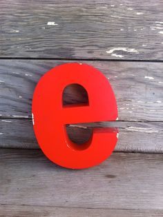 vintage letter E / retro signage / red metal by OneLuckyWeed, $26.00