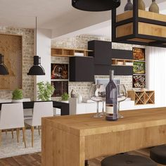 Proiecte mobilă la comandă - Portofoliu | ArtDecor House Minimal Kitchen Design, Design Case, Minimalist Home, Art Decor, Home Decor, Modern Furniture, Minimalism, House Design, Dining