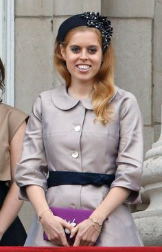 Pin for Later: Princess Beatrice of York Hangs With Kate Middleton, but Her Style's on Another Level Don't Deny Yourself That Bedazzled Headband You'll come back for it later.