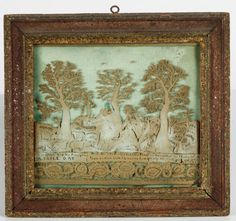 Cut out picture, made with paper, sand, and wood by one of the Parminter cousins, 1770 - 1820. A la Ronde © National Trust / Simon Harris