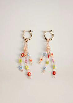 Bead Jewellery, Beaded Jewelry, Beaded Necklace, Beaded Bracelets, Pendant Earrings, Crystal Earrings, Women's Earrings, Diy Schmuck, Schmuck Design