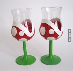 Cool wine glass idea