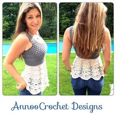 Annoo's Crochet World: Ballerina Top Adult Size (Photo Tutorial on site. Step by step.) (Pattern is for XS size, for S, M + Large, add ch in multiple of 15, or use a bigger Crochet Hook )