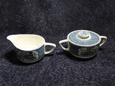 $14.99 Currier & Ives Royal China Creamer & Sugar Bowl w/Lid Multiple Avail - NICE! #RoyalChina