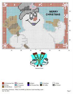 FROSTY MERRY CHRISTMAS by STITCHERS CRUTCH AKA MARY JOSLIN