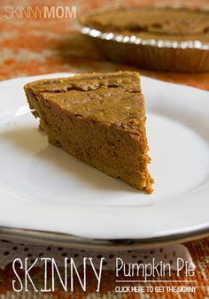 A delicious pumpkin pie with half the calories of the traditional!  Pumpkin pie is my weakness!