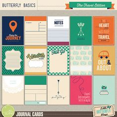 Butterfly Basics Travel Edition Journal Cards by Little Butterfly Wings at The Lilypad