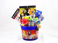 Wwe superstar deluxe easter basket for sale hayden wants this wwe wrestling candy and toy easter basket negle Images