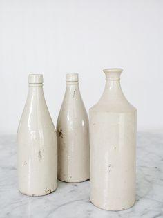 travelling wares - vintage stoneware bottles