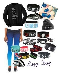 """""""Lazy Day"""" by alexapgar1108 on Polyvore featuring J Brand"""