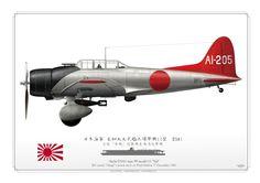 "IMPERIAL JAPANESE NAVY . 日本海軍 愛知九九式艦上爆撃機11型 D3A1 空母「赤城」搭載機真珠湾攻撃機 IJN carrier ""Akagi""'s attack wave on Pearl Harbor. 7th December 1941"