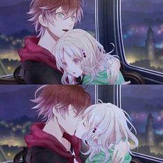 Tão lindos Anime Couple Kiss, Anime Couples Manga, Cute Anime Couples, Anime Guys, Manga Anime, Diabolik Lovers Ayato, Ayato Sakamaki, Vampire Boy, Funny Relationship Memes