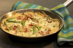 Omelette with Vegtables, Cheese and Pancetta #recipe #appetizer #castello
