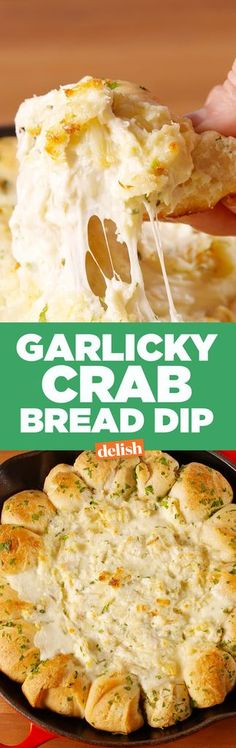 The only thing better than cheesy crab dip is cheesy crab dip surrounded by fluffy bread.