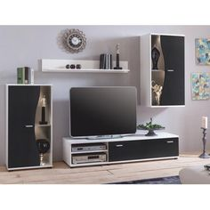 Wulkan Entertainment Unit for TVs up to Hazelwood Home LED Lighting: Included Furniture Deals, Cool Furniture, Living Room Furniture, Furniture Logo, Luxury Furniture, Tv Storage, Storage Spaces, Living Room Storage, Hazelwood Home