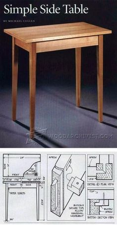 Simple Side Table Plans - Furniture Plans and Projects