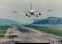 Landing at Hong Kong's old airport